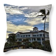 Towering Palm Throw Pillow