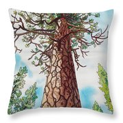 Towering Ponderosa Pine Throw Pillow