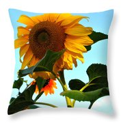 Towering Sunflower Throw Pillow