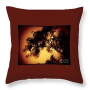 Towering Trees In The Twilight Throw Pillow