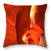 Towering Walls Of Antelope Canyon Throw Pillow