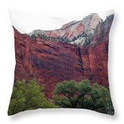 Towering Walls Zion Throw Pillow