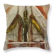 Towers Throw Pillow by Gregory Dallum