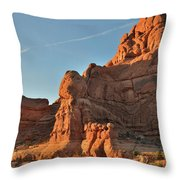Towers Of Garden Of Eden In Arches National Park Throw Pillow by Ray Mathis