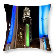 Towers Of Light Throw Pillow