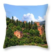 Towers Of The Alhambra Throw Pillow