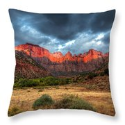 Towers Of The Virgin One Throw Pillow