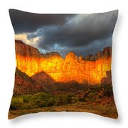 Towers Of The Virgin Two Throw Pillow by Paul Basile