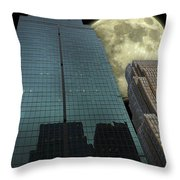 Towers To The Moon Throw Pillow