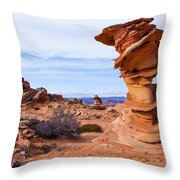 Towerscape Throw Pillow