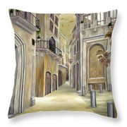 Town Alley Throw Pillow