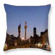 town center of Straubing Throw Pillow