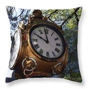 Town Clock Throw Pillow