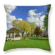 Town Common In Spring Brookfield Massachusetts Throw Pillow