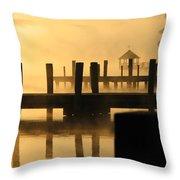 Town Docks Throw Pillow