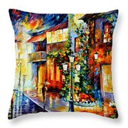 Town From The Dream Throw Pillow