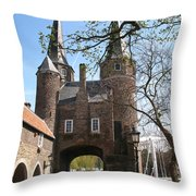 Town Gate - Delft Throw Pillow