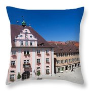 Town Hall And St. Martin Cathedral Throw Pillow