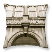 Town Hall, Arch And Windows Throw Pillow