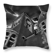 Town Hall Perspective Throw Pillow