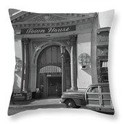 Town House And Woody Station Wagon, Alvarado Street - Monterey   Throw Pillow