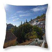Town In A Valley, Sacromonte, Granada Throw Pillow