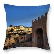 Town Of Assisi, Italy Throw Pillow