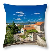 Town Of Betina Architecture And Coast Throw Pillow
