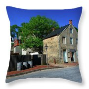 Town Of Harpers Ferry Throw Pillow