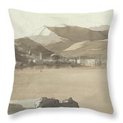 Town Of Lugano, Switzerland, 1781  Throw Pillow