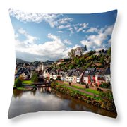 Town Of Saarburg Throw Pillow