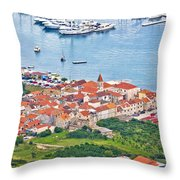 Town Of Seget Aerial View Throw Pillow