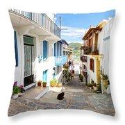 Town Of Skopelos Throw Pillow