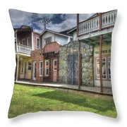 Town Of The Fromtier  Throw Pillow