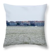 Town On The Water Throw Pillow