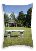 Town Park In Bartlett New Hampshire Usa Throw Pillow