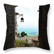 Town View In Italy Throw Pillow
