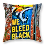 Towson Tigers Black And Gold Throw Pillow
