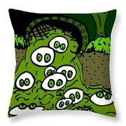 Toxic Cronkle Throw Pillow