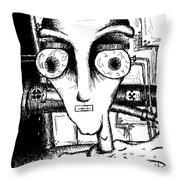 Toxic Man Bw Throw Pillow