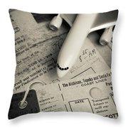 Toy Airplane II Throw Pillow