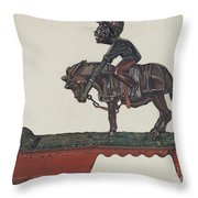 "Toy Bank: ""i Always Did 'spise A Mule"" Throw Pillow"