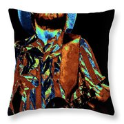 Toy Caldwell Plays The Blues Throw Pillow