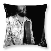 Toy Caldwell Screaming Guitar Throw Pillow