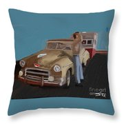 Toy Car Holiday Throw Pillow