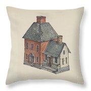 Toy House Throw Pillow