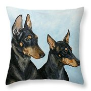 Toy Manchester Terriers Throw Pillow