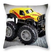 Toy Monster Truck Throw Pillow