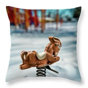 Toy Mule Throw Pillow