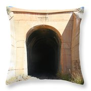 Toy Train Tunnel Throw Pillow
